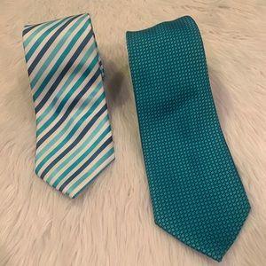LARANT B Men's Silk Tie Set of 2